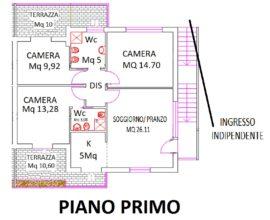 CALENZANO-Carpugnane 4,5 vani prossima realizzazione.