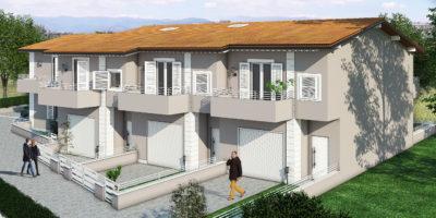 CAMPI BISENZIO -Zona la Villa Nuova costruzione villetta a schiera.